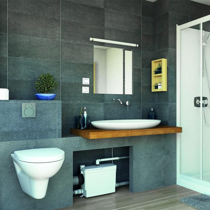 SFA sanibroyeur sanipack pro up broyeur dans salle de bains