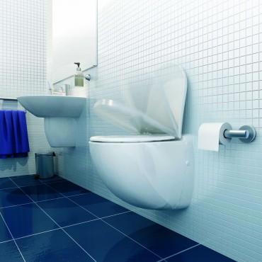 SFA sanibroyeur sanicompact comfort toilet avec broyeur dans salle de bains