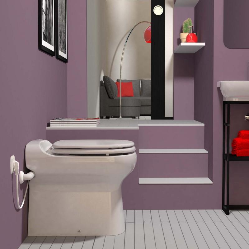 SFA sanibroyeur sanicompact elite toilet avec broyeur dans salle de bains