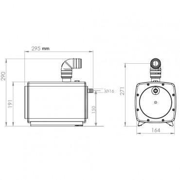 SFA sanifloor pompe de douche dimensions