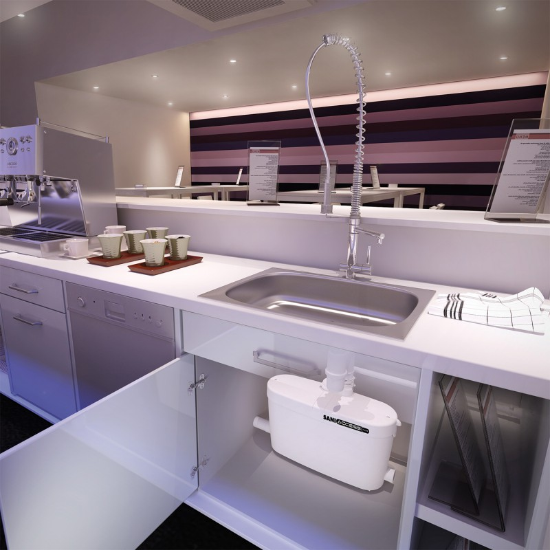 SFA sanibroyeur saniacces pompe domestique dans cuisine